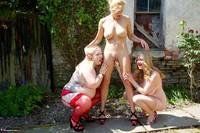 Molly MILF. Three Girl Fun In The Garden Pt2 Free Pic 2