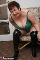 Kinky Carol. White Mini Skirt & PVC Thigh Boots Pt2 Free Pic 6