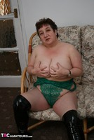 Kinky Carol. White Mini Skirt & PVC Thigh Boots Pt2 Free Pic 10