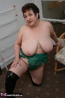 Kinky Carol. White Mini Skirt & PVC Thigh Boots Pt2 Free Pic 14