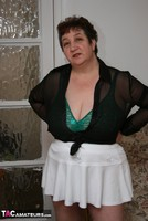 Kinky Carol. White Mini Skirt & PVC Thigh Boots Pt1 Free Pic 1