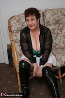 Kinky Carol. White Mini Skirt & PVC Thigh Boots Pt1 Free Pic 4