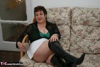 Kinky Carol. White Mini Skirt & PVC Thigh Boots Pt1 Free Pic 6