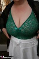Kinky Carol. White Mini Skirt & PVC Thigh Boots Pt1 Free Pic 12