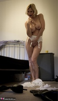 Molly MILF. French White Lingerie Free Pic 3