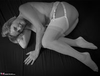 Molly MILF. French White Lingerie Free Pic 13