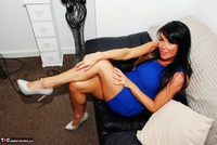 Raunchy Raven. Raunchy Raven In Floral Panties & Short Blue Dress Pt1 Free Pic 6