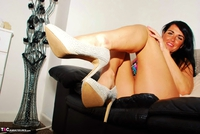 Raunchy Raven. Raunchy Raven In Floral Panties & Short Blue Dress Pt1 Free Pic 18