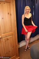 TraceyLain. Red Skirt Double Free Pic 1