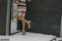 KyrasNylons. Kyra In The Snow Free Pic 10