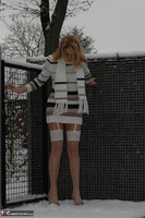 KyrasNylons. Kyra In The Snow Free Pic 11