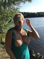 Sweet Susi. On The Bench By The Lake Free Pic 4