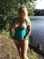 Sweet Susi. On The Bench By The Lake Free Pic 6