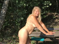 Sweet Susi. On The Bench By The Lake Free Pic 13