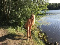 Sweet Susi. On The Bench By The Lake Free Pic 16