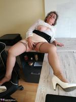 . Secretary's Sheer Nylons Free Pic 17