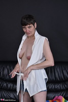 Hot Milf. Pussy Show In Stripped Socks Free Pic 5