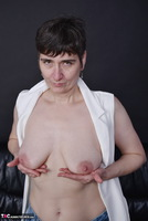 Hot Milf. Pussy Show In Stripped Socks Free Pic 9