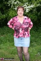 Kinky Carol. Denim Mini & Stockings Pt1 Free Pic 2