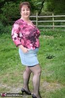 Kinky Carol. Denim Mini & Stockings Pt1 Free Pic 4