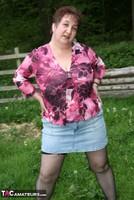 Kinky Carol. Denim Mini & Stockings Pt1 Free Pic 6