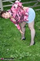 Kinky Carol. Denim Mini & Stockings Pt1 Free Pic 8