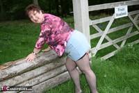 Kinky Carol. Denim Mini & Stockings Pt1 Free Pic 12