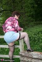 Kinky Carol. Denim Mini & Stockings Pt1 Free Pic 15