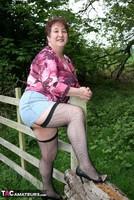 Kinky Carol. Denim Mini & Stockings Pt1 Free Pic 16