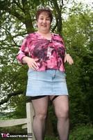Kinky Carol. Denim Mini & Stockings Pt1 Free Pic 20