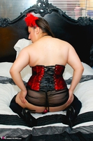 Kimberly Scott. Red Corset & Black Lace Teddy Pt2 Free Pic 5