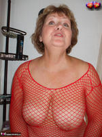 Busty Bliss. Busty Bliss Gets Red Net Body Stocking Soapy & Sudzy Free Pic 2