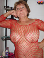 Busty Bliss. Busty Bliss Gets Red Net Body Stocking Soapy & Sudzy Free Pic 6
