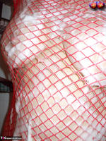 Busty Bliss. Busty Bliss Gets Red Net Body Stocking Soapy & Sudzy Free Pic 11