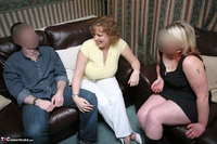 Curvy Claire. Threesome Fun In The Living Room Pt1 Free Pic 1