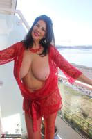 LuLu Lush. Red Lingerie By The Sea Free Pic 2