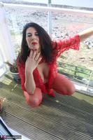 LuLu Lush. Red Lingerie By The Sea Free Pic 6