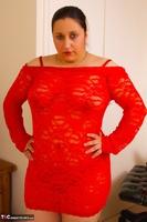 Kimberly Scott. Lace Red Dress & Pink Vibrator Pt1 Free Pic 1