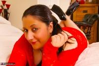 Kimberly Scott. Lace Red Dress & Pink Vibrator Pt1 Free Pic 9