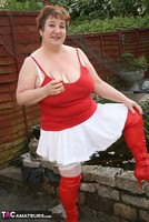 Kinky Carol. Red & White Boots & Stockings Pt1 Free Pic 2