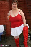 Kinky Carol. Red & White Boots & Stockings Pt1 Free Pic 3