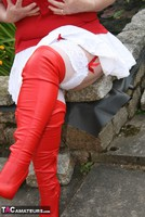 Kinky Carol. Red & White Boots & Stockings Pt1 Free Pic 12