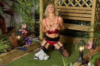 Molly MILF. In The Garden Free Pic 17