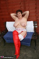Kinky Carol. Red & White Boots & Stockings Pt3 Free Pic 10