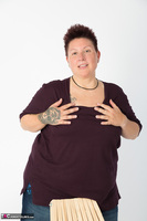 Tattoo Girl. Violet Top Free Pic 3