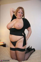 Curvy Claire. Fishnets On The Bed Pt2 Free Pic 16
