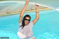 LuLu Lush. Wet T-Shirt In The Pool Free Pic 11