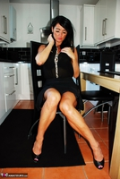 Raunchy Raven. Raunchy Raven In Little Black Dress & Black Panties Pt1 Free Pic 6