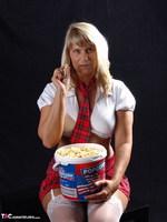 Sweet Susi. Schoolgirl & Popcorn Free Pic 2