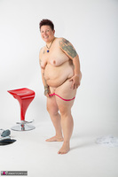 Tattoo Girl. Red Stool Free Pic 17